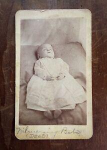 Antique Post Mortem CDV Baby Carte de Visite Photo