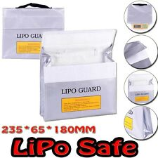 LiPo Safe Battery Guard Charging Protection Bag Explosion Proof 235X65X180mm B