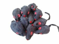 Set of 10 Gray Cat Mice Toys, Furry Mouse, Zanies