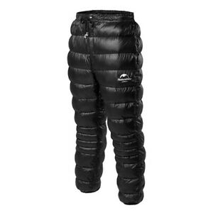 Unisex Goose Down Filled Pants Trousers For Winter Snow Hiking Warmer Thermal