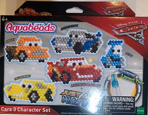 Disney Pixar Cars 3 Aqua beads Aquabeads 5 Character Set