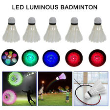 4x LED Badminton Federball Beleuchtung Shuttlecocks Federbälle Farbe Kreativitä