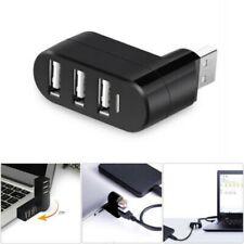 Mini 3 Ports USB 2.0 Mini Rotating Splitter Adapter Hub For PC Laptop Mac