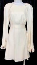Chloe Dress Pristine White Tie Back Cady Dress Long Puffed  Size 36 NWT $1650