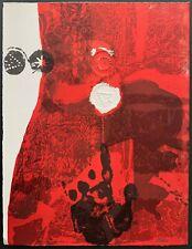 "Antoni Clave ""TROBADORS"" 1970 Hand Signed artist proof E.A. (épreuve d'artis) 09"