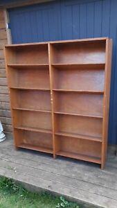 Vintage Golden Oak School Library Book Case / Shelves