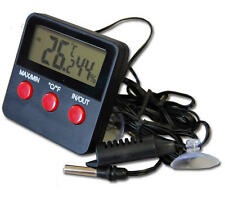 DIGITAL MAX MIN REPTILE TANK THERMOMETER HYGROMETER HUMIDITY IN/OUT - IN-010