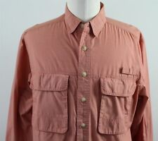 NEW ExOfficio Insect Shield Baja L/S Button Up Shirt MENS MEDIUM Red Polyester