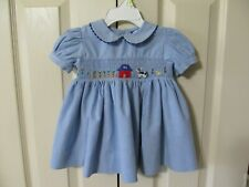 Carriage Boutiques Infant Girl's Blue Smocked Dress Size 6M