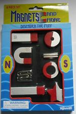 Magnet Set Science Toy Magnets 8 Pieces NEW