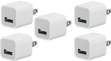 New Genuine OEM Apple iPhone USB Power Wall Cube Original Adapter Plug A1385 x 5
