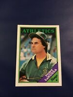 1988 Topps # 344 TONY LARUSSA Manager Oakland Athletics WS Hall Of Fame Sweet !