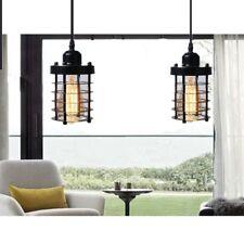 Cage Pendant Light Black Fixture Vintage Industrial Hanging Ceiling Set 2 Mini