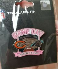 Carolina Panthers VS Chicago Bears 10/22/17 NEW GAME DAY LAPEL PIN Free Shipping