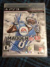 Madden NFL 13 (Sony PlayStation 3, 2012) Brand New Sealed