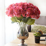 New 5 Heads Artifical Hydrangea Silk Flower Bouquet Home Wedding Party Decor