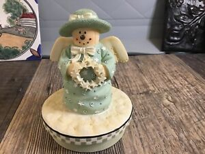 Our American Candle Topper Snowman Angel Star Wreath Holiday Winter Christmas