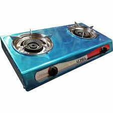 DOUBLE BURNER STOVE DOUBLE HEAD PORTABLE PROPANE GAS FOR OUTDOOR CAMPING