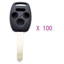 100PCS Remote Key Shell Case fit for Honda Ridgeline Civic Accord CR-V 4Bts