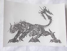A4 Art Graphite Pencil Sketch Drawing Transformers Ravage Return of the Fallen