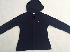 Lacoste Womens Navy Blue Hooded Zip Up Jumper Cardigan Jacket Size 12