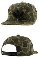 Adidas Men's Originals Trefoil Plus Snapback Cap Forest Camo/Black Hat ,One Size