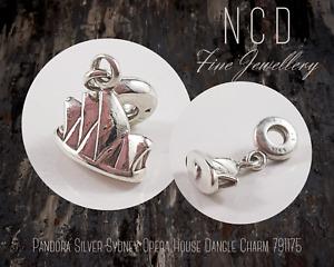 NC Designs Authentic Pandora Silver Sydney Opera House Dangle Charm 791175