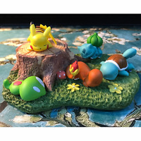 5pc Pokemon Bulbasaur Squirtle Pikachu Sleeping Figure Toy Micro Landscape Doll