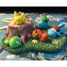 Pokemon Bulbasaur Squirtle Pikachu Schlafen Figur Mikro Landschaft Spielzeug