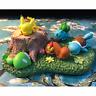 Pokemon Bulbasaur Squirtle Pikachu Sleeping Figure Toy Micro Landscape No Base