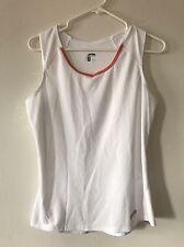 Go lite Women's Polyester Athletic Tank Top White Size M Medium