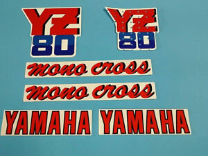 YAMAHA YZ80 1987 TANK SHOULD DECAL GRAPHIC SET (#Y19)