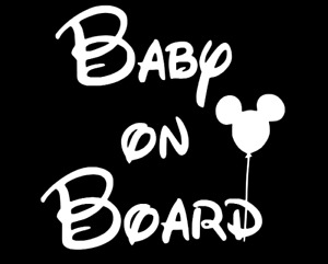 Baby On Board Vinyl Decal baby car decal