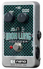 Electro-Harmonix EHX Iron Lung Vocoder Voice Effects & Guitar Pedal