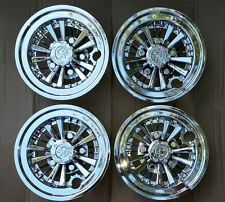 "EZGO, Club Car, Yamaha Golf Cart MEDUSA 8"" CHROME Wheel Covers Hub Caps (4)"