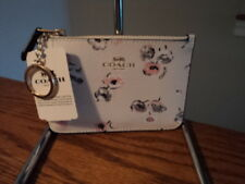 Coach F65444 Key Pouch Wallet Credit Card Wallet Wildflower W/ Gusset NWT $65