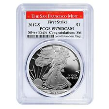 2017-S 1 oz Proof Silver American Eagle PCGS PF 70 DCAM First Strike (SF Label)