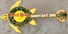 Hard Rock Cafe TOKYO 2002 EARTH DAY PIN Green Back TURTLE GUITAR - HRC #20579