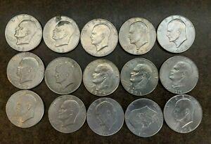 "15 Eisenhower ""Ike"" $1 Dollar Coins - Lot - No Reserve"
