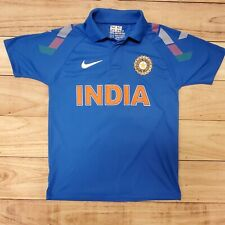 ICC - RARE VNTG NIKE INDIA NATIONAL CRICKET TEAM POLO JERSEY BLUE - MENS XS 34