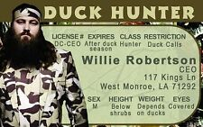 Willie Robertson THE DUCK HUNTER hunting drivers license West Monroe LA call