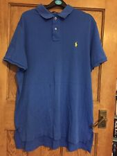 Ralph Lauren,Polo Tshirt,men's,size XL, blue,90's,hipster,fashion,summer,cool