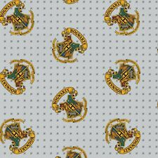 """1//4 Yard 9""""x42"""" Harry Potter Slytherin Varsity Quidditch Cotton Quilt Fabric"""