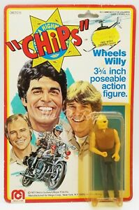 """Chips Wheels Willy 3.75"""" Poseable Action Figure 1977 Mego Corp No. 08010/5 NRFP"""