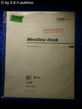 Sony Bedienungsanleitung MDS LSA1 Mini Disc Deck (#1313)