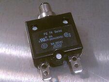 JOEMEX PE74 Series  Push To Reset Only  Thermal Circuit Breaker 30A 250VAC 50VDC