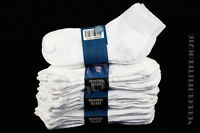 9-11 10-13 Athletic Quality Cushion White Ankle Gripper Socks Sports 6 12 Pairs