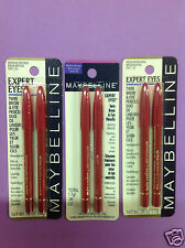3 X Maybelline Expert Eyes Twin Brow & Eye Pencils ( MEDIUM BROWN ) NEW.
