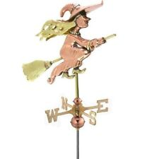 Good Directions Witch Garden Weathervane Polished Copper w/ Roof Mount 8849Pr