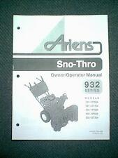 ARIENS SNO-THRO 932 SERIES SNOWBLOWER MODELS ST524 ST724 ST824 OWNER'S MANUAL